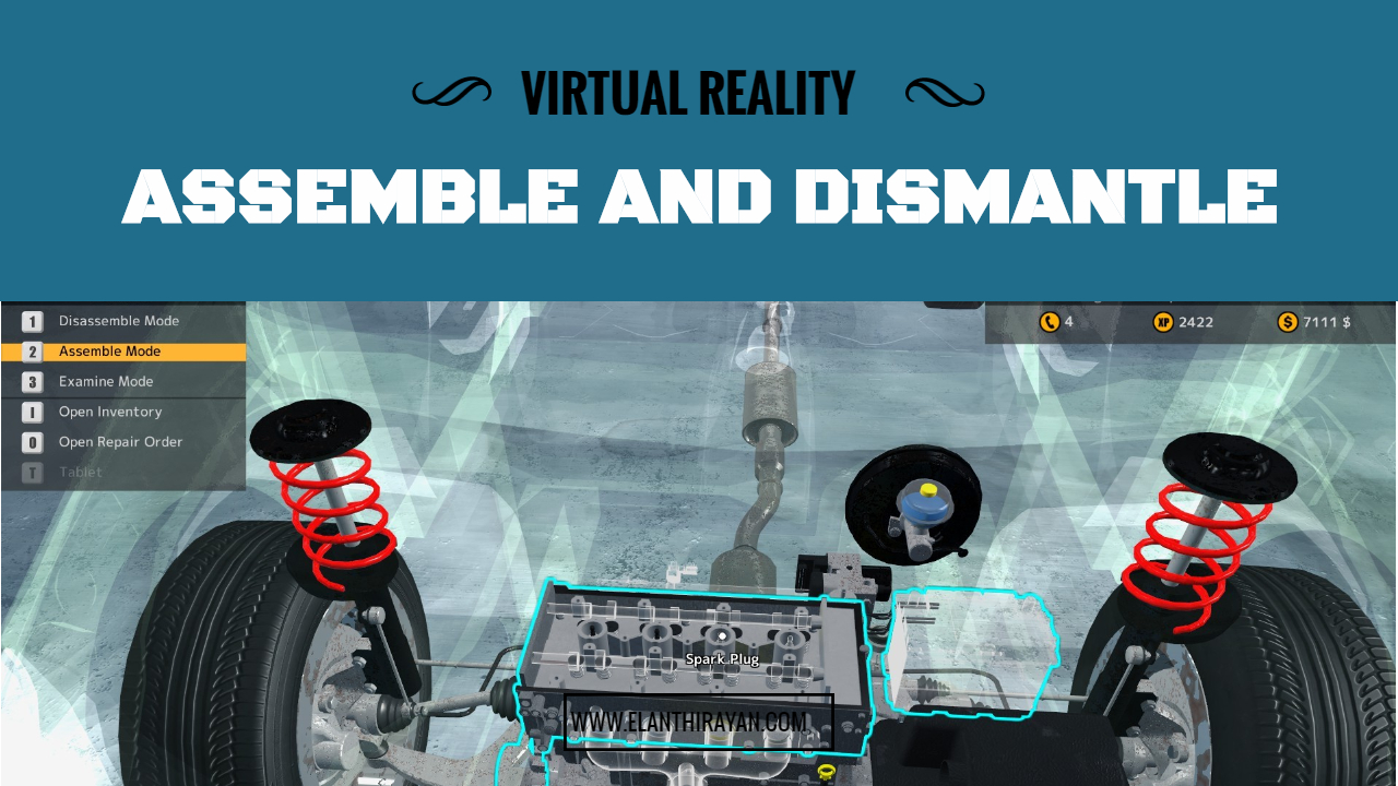 VR Car Assmble and Dismantle